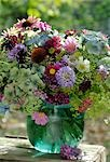 Garden flowers in a vase Stock Photo - Premium Royalty-Freenull, Code: 689-03131090