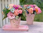 Bunch of roses in pastel shades Stock Photo - Premium Royalty-Freenull, Code: 689-03131180