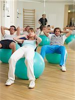 rehabilitation - Gym with fit-ball Stock Photo - Premium Royalty-Freenull, Code: 689-03131208
