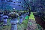 Stone Lanterns at Dusk, Taiyuin-byo Shrine, Nikko National Park, Japan                                                                                                                                   Stock Photo - Premium Rights-Managed, Artist: Daryl Benson             , Code: 700-03152258