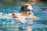 Girl Swimming Stock Photo - Premium Royalty-Freenull, Code: 600-03152340