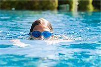 Girl Swimming Stock Photo - Premium Royalty-Freenull, Code: 600-03152342