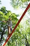 Girl Slacklining                                                                                                                                                                                         Stock Photo - Premium Rights-Managed, Artist: Bryan Reinhart           , Code: 700-03152350