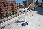 Model Wind Turbine on Rooftop                                                                                                                                                                            Stock Photo - Premium Rights-Managed, Artist: Steve Prezant            , Code: 700-03152543