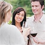 Group of People Outdoors Drinking Wine Stock Photo - Premium Royalty-Free, Artist: Hiep Vu                  , Code: 600-03153015