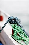 Close up of knotted ropes in a fishing boat Stock Photo - Premium Rights-Managed, Artist: ableimages, Code: 822-03162128