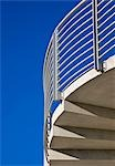 Detail of a concrete staircase against a cloudless blue sky Stock Photo - Premium Rights-Managed, Artist: ableimages, Code: 822-03162179