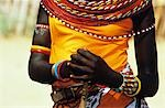 KENYA NATIVE WOMAN TORSO WEARING COLORFUL JEWELRY COSTUME