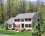 1990s ALLENTOWN, PA SUBURBAN HOME IN SPRING
