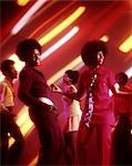 1970s AFRICAN-AMERICAN GROUP COUPLE DANCING FLASHING DISCO LIGHTS