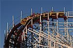 WOODEN ROLLER COASTER AMUSEMENT PARK RIDE Stock Photo - Premium Rights-Managed, Artist: ClassicStock, Code: 846-03164298