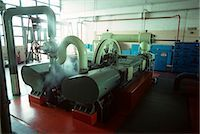 1970s INTERIOR FACTORY MACHINERY GENERATOR IN AUTOMOBILE PLANT Stock Photo - Premium Rights-Managednull, Code: 846-03164738