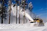 SNOWPLOW CLEARING PATH DESCHUTES NATIONAL FOREST OR