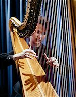 1960s HARP MUSICIAN WOMAN STRINGS Stock Photo - Premium Rights-Managednull, Code: 846-03165055