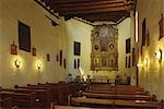SANTA FE, NM INTERIOR OF SAN MIGUEL CHAPEL Stock Photo - Premium Rights-Managed, Artist: ClassicStock, Code: 846-03165342