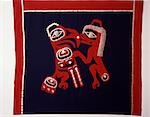 ANTIQUE HAIDA BUTTON BLANKET BRITISH COLUMBIA, CANADA