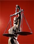 STATUE BLIND JUSTICE HOLDING SCALES Stock Photo - Premium Rights-Managed, Artist: ClassicStock, Code: 846-03166090