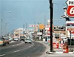 1960s SIGNS ALONG CHEF MENTEUR HIGHWAY NEW ORLEANS LA SUBURBAN SHOPS FAST FOOD MOTELS GAS BUSY CLUTTER AMERICANA