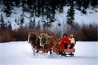 1990s PEOPLE RIDING HORSE DRAWN SLEIGH GRANBY COLORADO USA Stock Photo - Premium Rights-Managednull, Code: 846-03166153