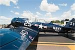 WWII US Navy Airplane at Air Show, Olympia, Washington, USA