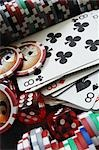 Close-up of Cards, Pokerchips and Dice Stock Photo - Premium Rights-Managed, Artist: Andrew Kolb, Code: 700-03171557