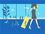 Woman with Suitcase at Airport Stock Photo - Premium Rights-Managed, Artist: Lisa Brdar, Code: 700-03178411