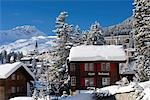 Chalets in Winter, Arosa, Switzerland Stock Photo - Premium Rights-Managed, Artist: Siephoto, Code: 700-03178599
