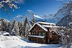 Chalets in Winter, Arosa, Switzerland