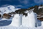 Snow Castle, Arosa, Switzerland Stock Photo - Premium Rights-Managed, Artist: Siephoto, Code: 700-03178605