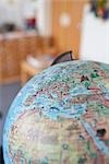 Close-up of Globe Stock Photo - Premium Royalty-Free, Artist: Holger Hill, Code: 600-03178799