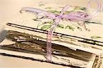 Stack of Old Letters Tied With Ribbon Stock Photo - Premium Rights-Managed, Artist: Amy Whitt, Code: 700-03178982