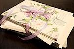 Stack of Old Letters Tied With Ribbon Stock Photo - Premium Rights-Managed, Artist: Amy Whitt, Code: 700-03178983