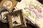 Old Letters and Framed Antique Photographs