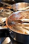 Dirty Pots and Pans on the Stove Stock Photo - Premium Rights-Managed, Artist: Ron Fehling, Code: 700-03178993
