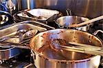 Dirty Pots and Pans on the Stove Stock Photo - Premium Rights-Managed, Artist: Ron Fehling, Code: 700-03179003