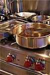 Dirty Pots and Pans on the Stove Stock Photo - Premium Rights-Managed, Artist: Ron Fehling, Code: 700-03179004