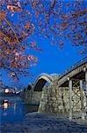 Kintai Bridge over Nishiki River, Iwakuni, Yamaguchi Prefecture, Chugoku, Japan