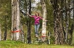 Woman Slacklining Stock Photo - Premium Rights-Managed, Artist: Bryan Reinhart, Code: 700-03179152