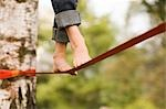 Woman on Slackline Stock Photo - Premium Rights-Managed, Artist: Bryan Reinhart, Code: 700-03179164