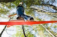 Boy Slacklining Stock Photo - Premium Rights-Managednull, Code: 700-03179172
