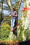 Boy Slacklining and Texting Stock Photo - Premium Rights-Managed, Artist: Bryan Reinhart, Code: 700-03179177