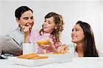 Close-up of a happy family eating breakfast Stock Photo - Premium Rights-Managed, Artist: Glowimages, Code: 837-03185358