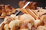 Close-up of a basket of assorted bread rolls and scones Stock Photo - Premium Rights-Managed, Artist: Glowimages, Code: 837-03186993