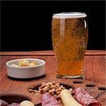 Close-up of ham and cheese rolls served with beer Stock Photo - Premium Rights-Managed, Artist: Glowimages, Code: 837-03187100