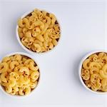 High angle view of macaroni in bowls Stock Photo - Premium Rights-Managed, Artist: Glowimages, Code: 837-03187326