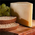 Close-up of cheese and bread Stock Photo - Premium Rights-Managed, Artist: Glowimages, Code: 837-03187782