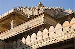 Low angle view of a temple, Adinath Temple, Jain Temple, Ranakpur, Pali District, Udaipur, Rajasthan, India Stock Photo - Premium Rights-Managed, Artist: Photosindia, Code: 857-03192532