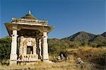 Temple on a hill, Jain Temple, Ranakpur, Pali District, Udaipur, Rajasthan, India Stock Photo - Premium Rights-Managed, Artist: Photosindia, Code: 857-03192547