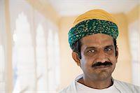 Portrait of a man, Meherangarh Fort, Jodhpur, Rajasthan, India Stock Photo - Premium Rights-Managednull, Code: 857-03192579