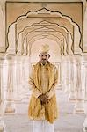 Man standing in a fort, Amber Fort, Jaipur, Rajasthan, India Stock Photo - Premium Rights-Managed, Artist: Photosindia, Code: 857-03192667